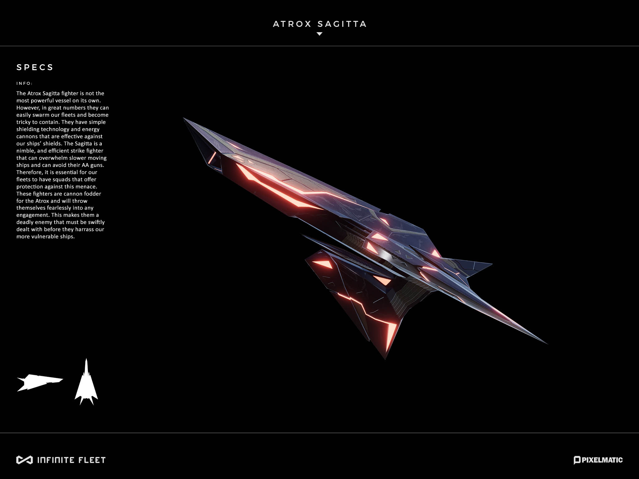atrox sagitta alien space fighter model