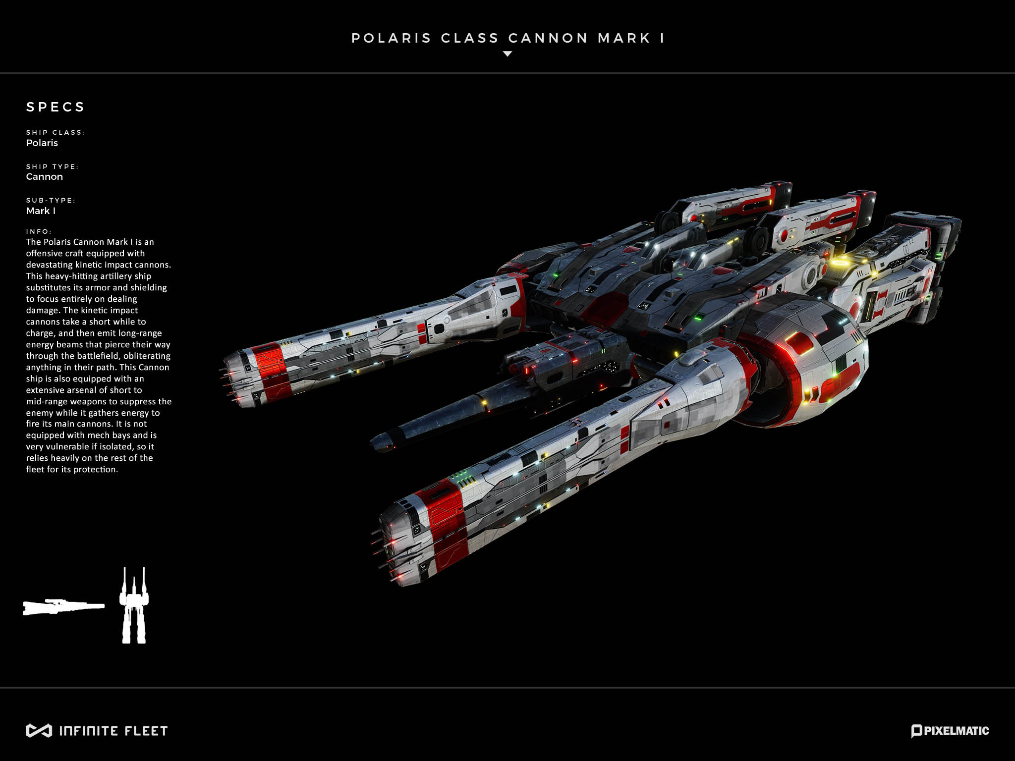 cannon spaceship model