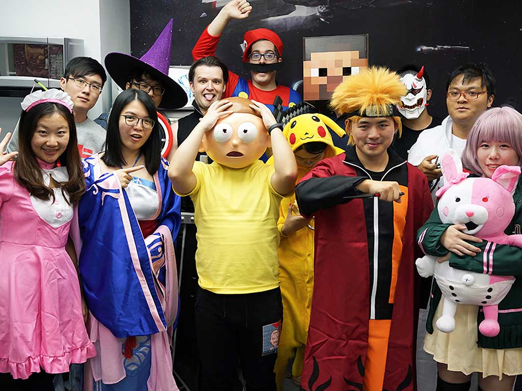 pixelmatic team office cosplay